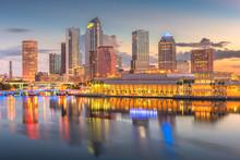 Tampa, Florida, USA Downtown Skyline On The Bay