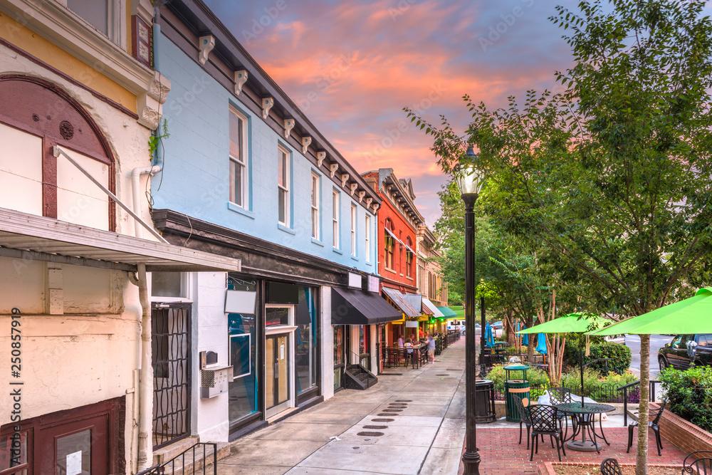 Fototapety, obrazy: Athens, Georgia, USA historic downtown