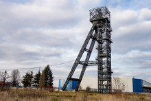 The Headframe With Mining Shaf...