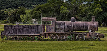 Old Rusted Steam Locomotive In Paraguay.