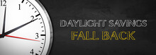 Blackboard Clock - Daylight Sa...