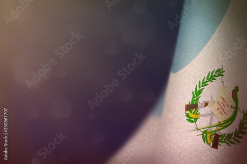 Fotografia, Obraz  Guatemala flag for honour of veterans day or memorial day