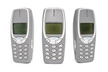 Old Mobile Phone On White Back...