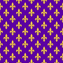 Bright Purple Royal Seamless Pattern