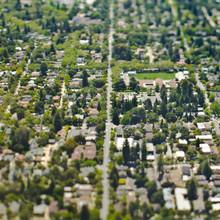 Aerial View Of A Suburban Neighborhood