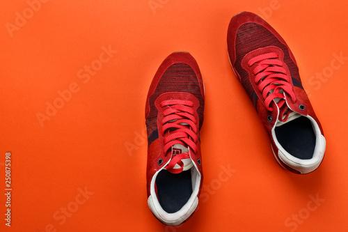 Fotografia, Obraz  red men's sneakers