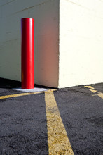 Red Pole Near Building