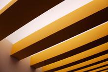 Yellow Ceiling Beams