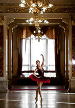 Beautiful Ballerina Dancing In...
