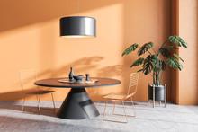 Orange Dining Room, Round Table