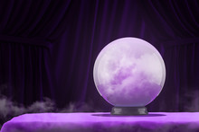 Magic Ball On Purple Table