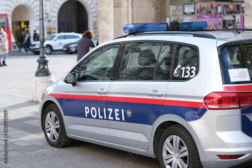 Fotografie, Tablou  Close up of austrian police car on Vienna street