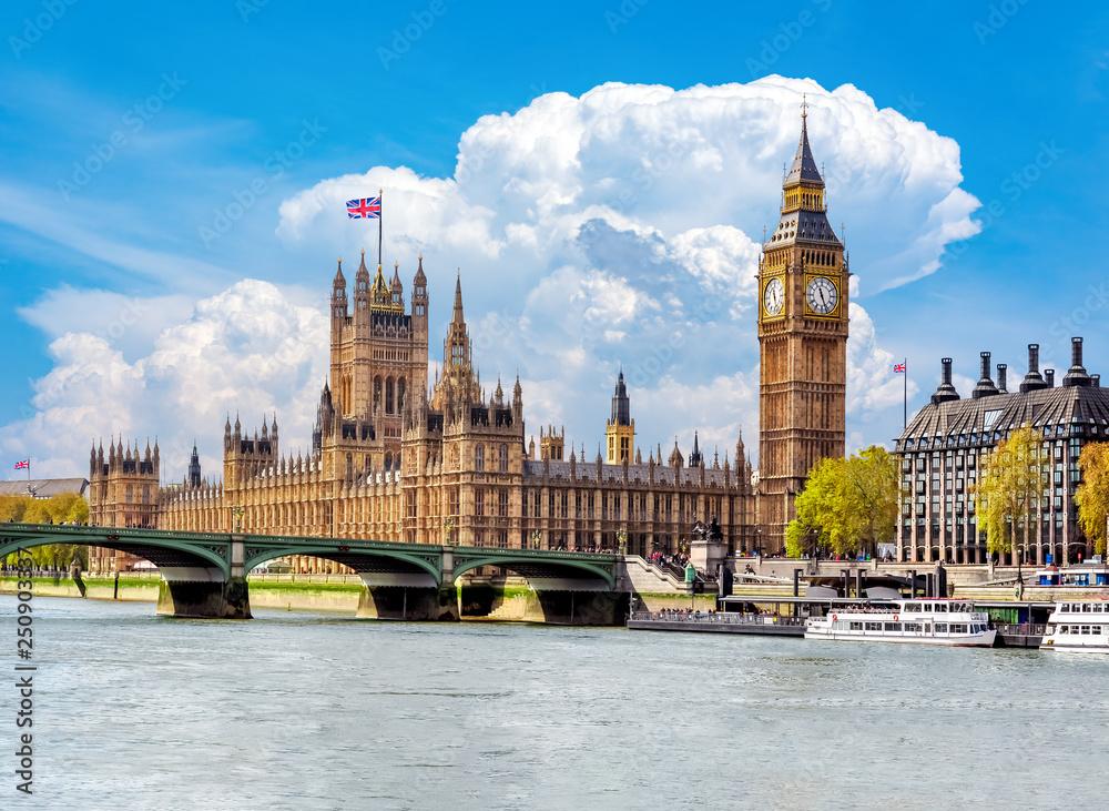 Big Ben and Houses of Parliament, London, UK Wallpaper Mural