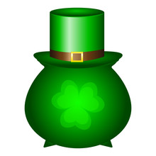 Pot And The Cap Of The Cap Is A Symbol Of St. Patrick S Day