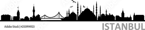 Poster Blanc Istanbul City Skyline