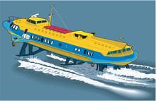 Hydrofoil Vector Illustration