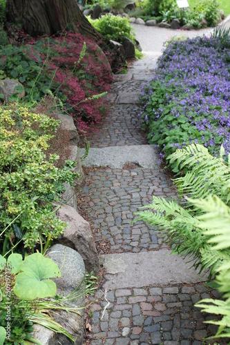 Staande foto Tuin Garden Path