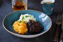 Scottish Dish Of Haggis, Neeps...
