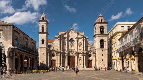 Poster Havana place of the catedral, havana cuba