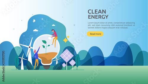 Fotografia  green clean energy sources