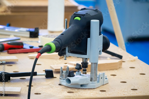 Milling Machine For Wood Vertical Router On The Workbench