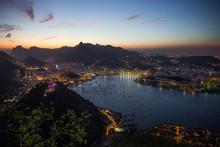 Majestic Cityscape At Night