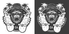 Vintage Skateboarding Summer Logotype