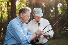 Senior Men Fishing