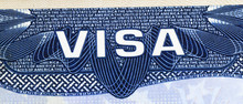 Close Up On Visa Of The United...