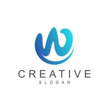 Wave Letter W Logo