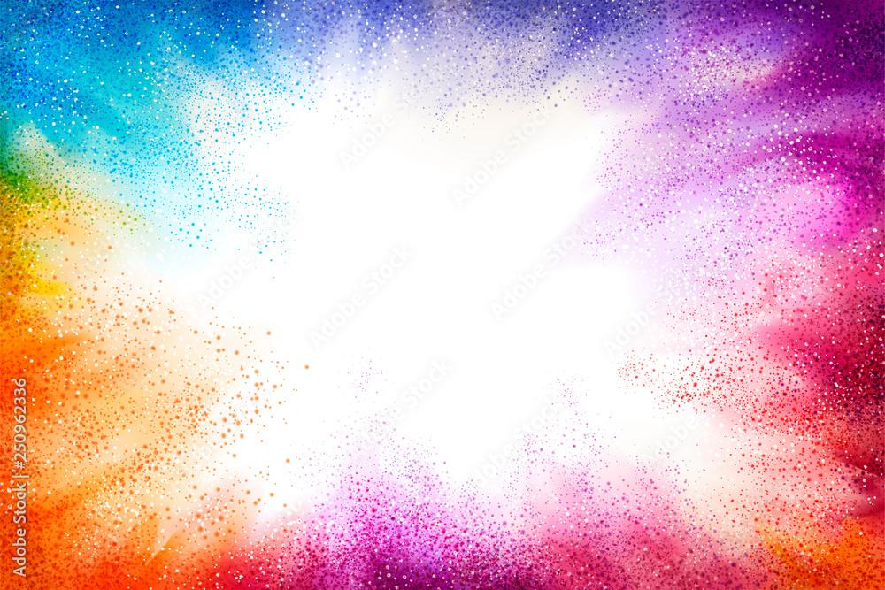 Fototapeta Exploding colorful powder effect