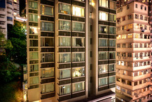 Apartment Windows In Downtown ...