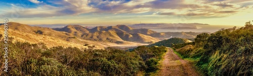 Marin Headlands Trail View of San Francisco Bay Wallpaper Mural