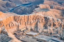 Aerial View Of Mortuary Temple Of Hatshepsut ,Egypt