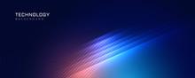 Stylish Blue Technology Lights Background
