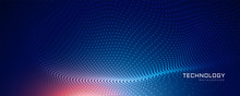 Abstract Blue Technology Particle Background