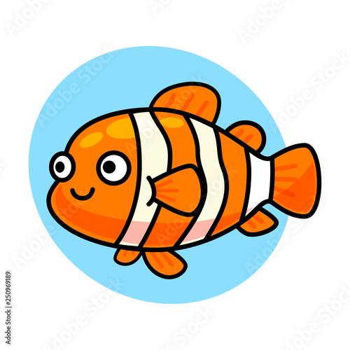 Fotografie, Obraz cute nemo fish isolated vector