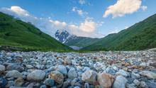 Mountain Landscape In Svaneti, Georgia.