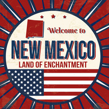 Welcome To New Mexico Vintage Grunge Poster