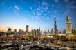 Dubai cityscape at Magic Hour