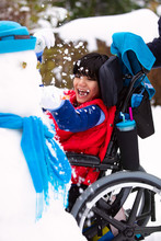 Happy Smiling Disabled Boy In ...