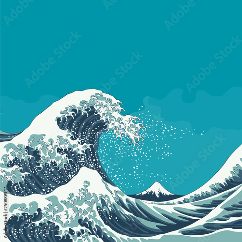 The Great Wave Off Kanagawa Tapéta, Fotótapéta