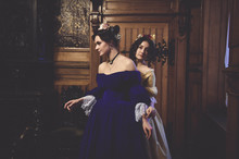 Ladies In 19th Century Ball Dr...