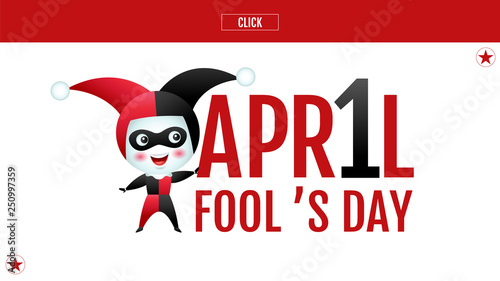 April fool's day, Typography, Colorful, vector illustration. Wallpaper Mural