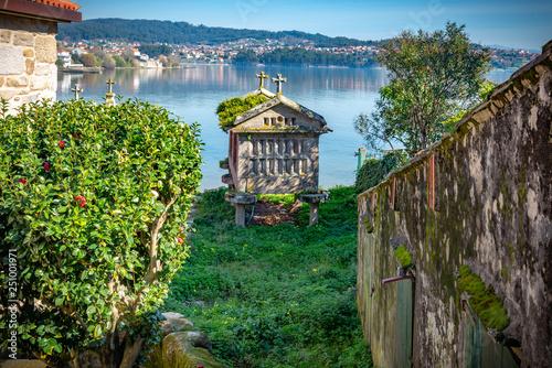 Photo  Vista panorámica en Combarro, pueblo de pescadores españoles cerca de Pontevedra