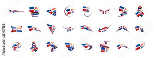 Fotografía Dominicana flag, vector illustration on a white background