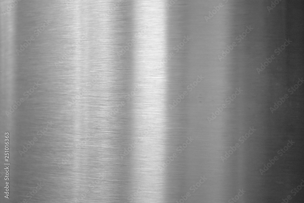 Fototapety, obrazy: Brushed metal texture - reflection