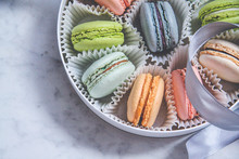 French Sweets Dessert-Macarons...
