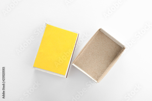Empty matchbox on white background, top view. Space for design Wallpaper Mural