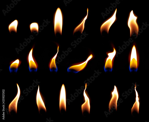 Fotografia candle flame overlay candle flame light
